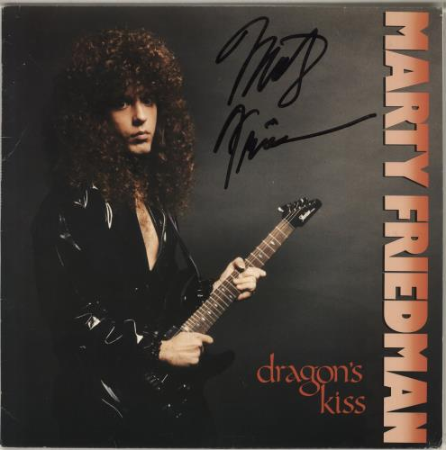 Marty Friedman Dragon's Kiss - Autographed vinyl LP album (LP record) Dutch MFELPDR716706