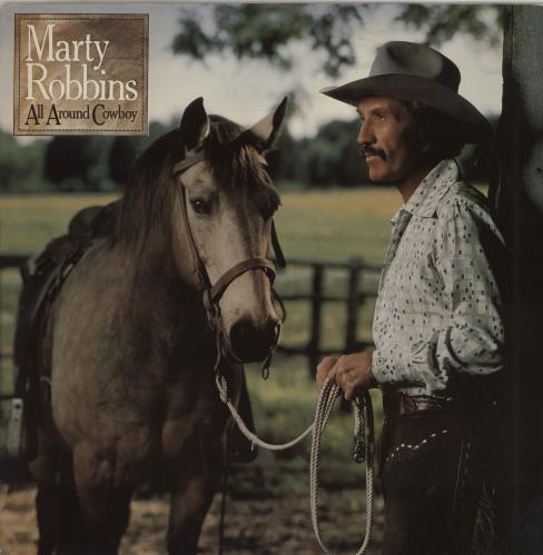Marty Robbins All Around Cowboy - Promo Stamped vinyl LP album (LP record) UK M/RLPAL759502