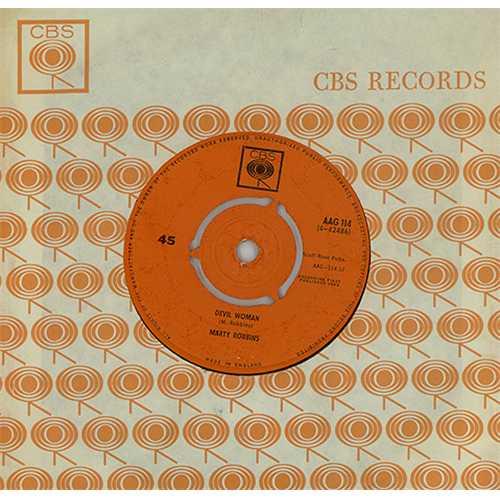 "Marty Robbins Devil Woman 7"" vinyl single (7 inch record) UK M/R07DE408491"