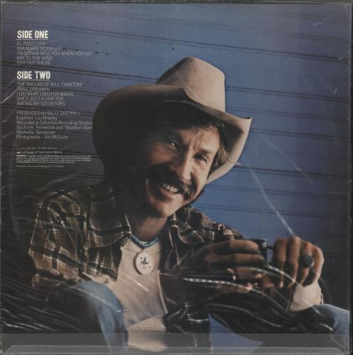 Marty Robbins El Paso City Uk Vinyl Lp Album Lp Record