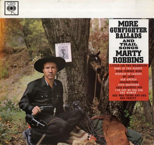 Marty Robbins More Gunfighter Ballads And Trail Songs vinyl LP album (LP record) UK M/RLPMO565073