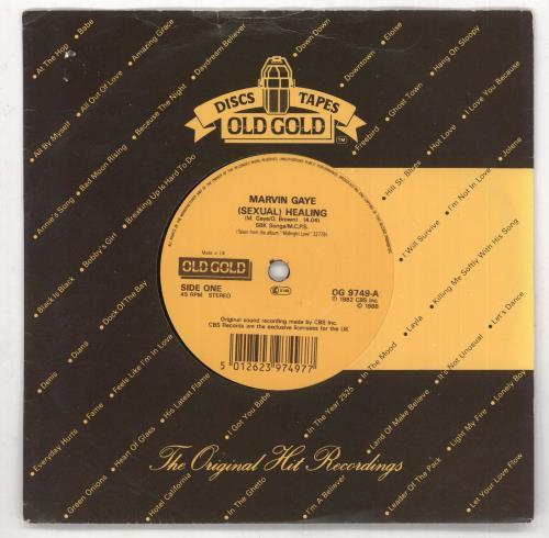 "Marvin Gaye [Sexual] Healing 7"" vinyl single (7 inch record) UK MVG07SE734835"
