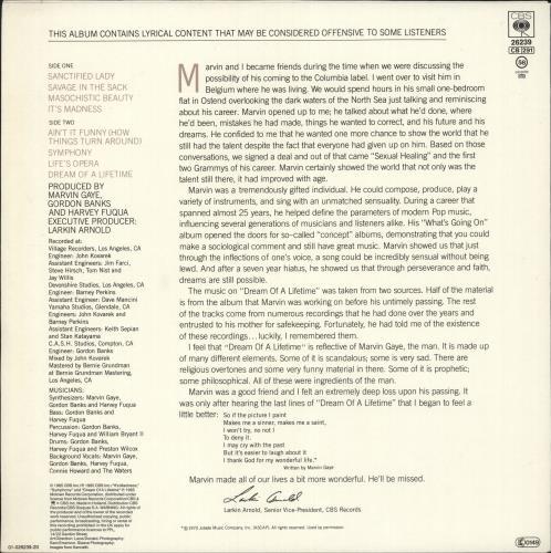 Marvin Gaye Dream Of A Lifetime vinyl LP album (LP record) Dutch MVGLPDR727320