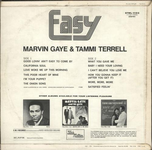 Marvin Gaye Easy vinyl LP album (LP record) UK MVGLPEA729223