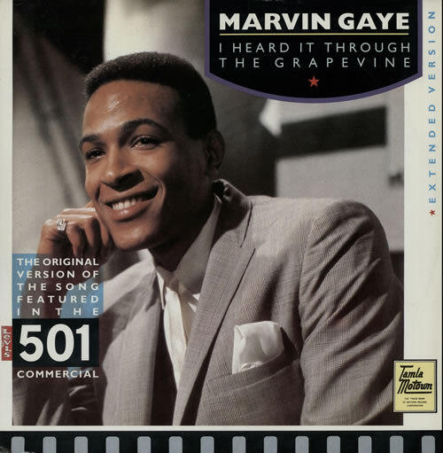 "Marvin Gaye I Heard It Through The Grapevine - EX 12"" vinyl single (12 inch record / Maxi-single) UK MVG12IH579230"