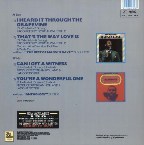 "Marvin Gaye I Heard It Through The Grapevine 12"" vinyl single (12 inch record / Maxi-single) UK MVG12IH741237"