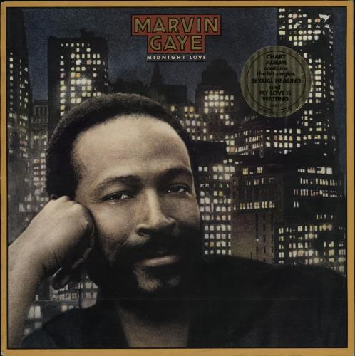 Marvin Gaye Midnight Love + Two-song Hype Stickered Sleeve vinyl LP album (LP record) UK MVGLPMI764223
