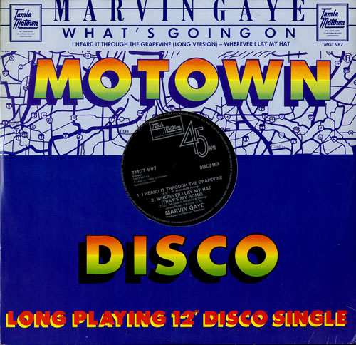 """Marvin Gaye What's Going On 12"""" vinyl single (12 inch record / Maxi-single) UK MVG12WH564591"""