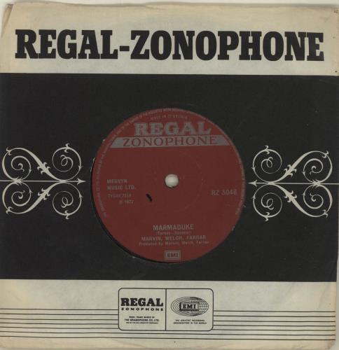 "Marvin Welch & Farrar Marmaduke 7"" vinyl single (7 inch record) UK MWF07MA269901"