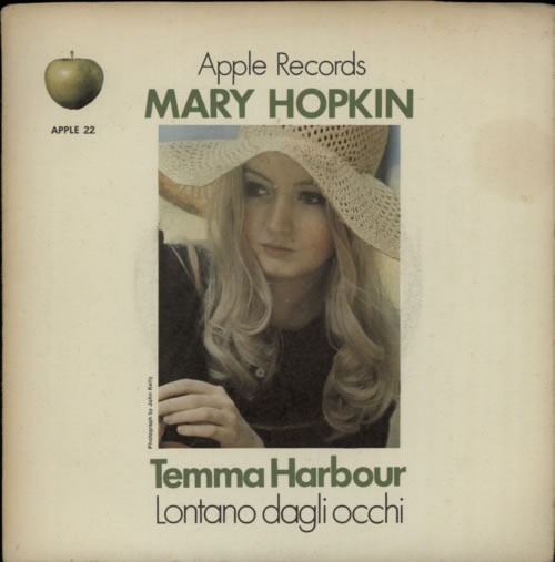 "Mary Hopkin Temma Harbour - Green Titles - Solid - VG 7"" vinyl single (7 inch record) UK MHP07TE569496"