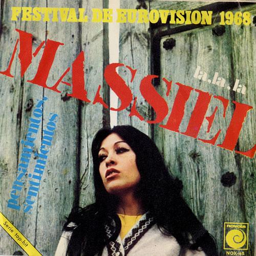"""Massiel La, La, La 7"""" vinyl single (7 inch record) Spanish M3L07LA493002"""