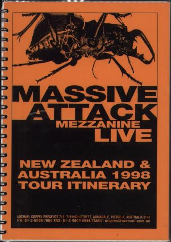 Massive Attack Mezzanine Live - New Zealand & Australia Itinerary Australian M-AITME707525