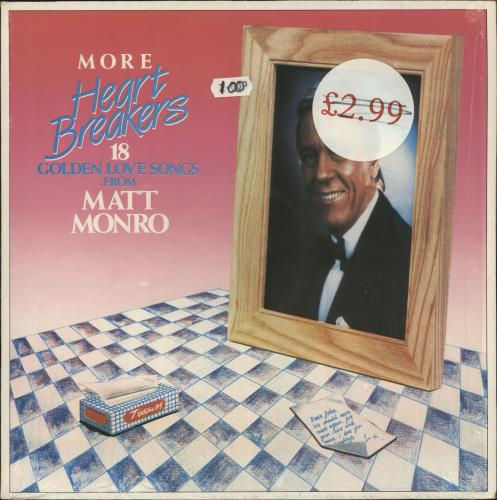 Matt Monro More Heart Breakers 18 Golden Love Songs vinyl LP album (LP record) Brazilian MTNLPMO748858