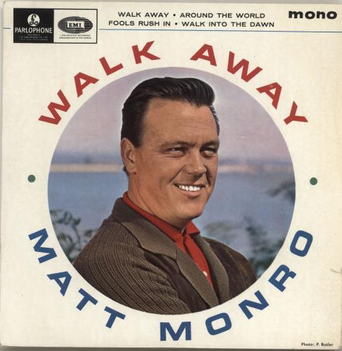 """Matt Monro Walk Away EP 7"""" vinyl single (7 inch record) UK MTN07WA557259"""