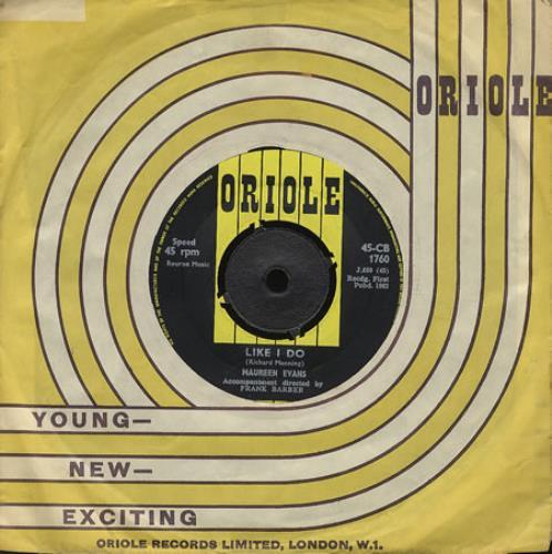 "Maureen Evans Like I Do 7"" vinyl single (7 inch record) UK ME.07LI387946"