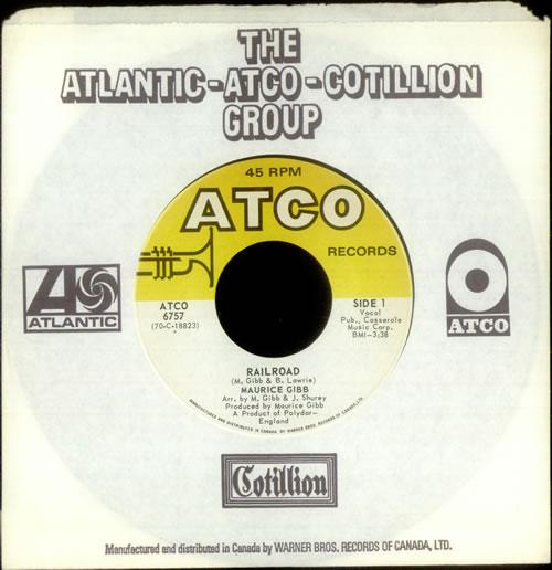 "Maurice Gibb Railroad 7"" vinyl single (7 inch record) Canadian IBB07RA540578"