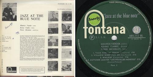 Maurice Vander Jazz At The Blue Note vinyl LP album (LP record) French MVDLPJA373649