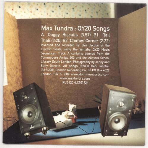 "Max Tundra QY20 Songs 7"" vinyl single (7 inch record) UK M6-07QY734934"