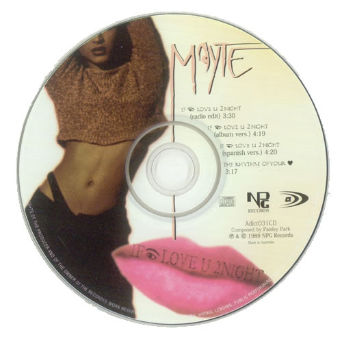 "Mayte Love U 2 Night CD single (CD5 / 5"") Australian MTEC5LO527088"