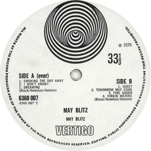 May Blitz May Blitz - 1st - EX vinyl LP album (LP record) UK MBZLPMA658069