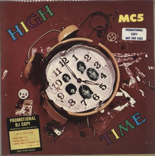 MC5 High Time vinyl LP album (LP record) US MC5LPHI666863