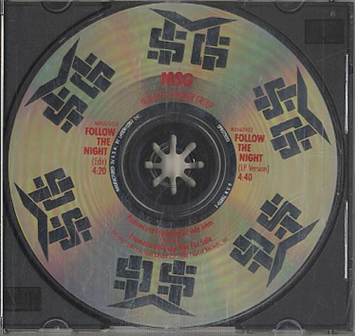 "McAuley Schenker Group Follow The Night CD single (CD5 / 5"") US MCAC5FO123587"