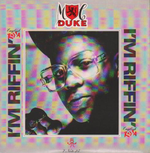 "MC Duke I'm Riffin' (English Rasta) + Poster 7"" vinyl single (7 inch record) UK N6A07IM646236"