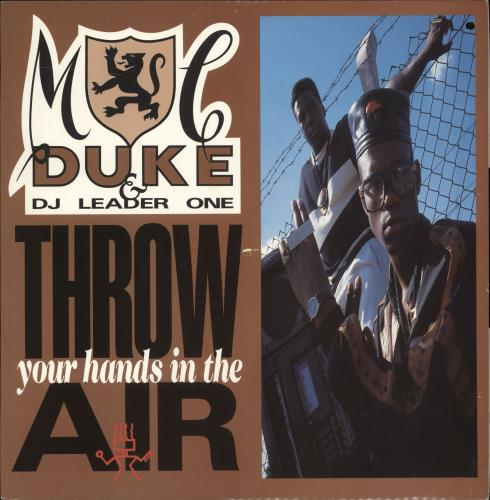 "MC Duke Throw Your Hands In The Air 12"" vinyl single (12 inch record / Maxi-single) UK N6A12TH723893"