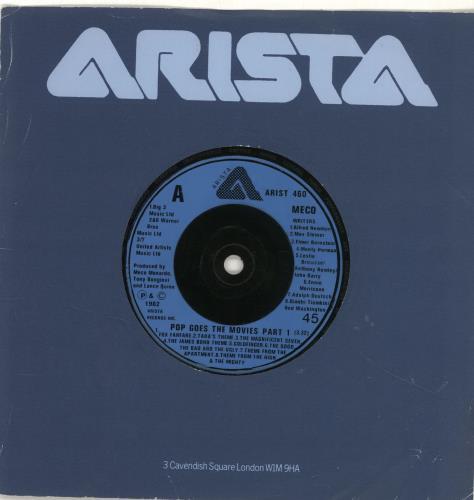 "Meco Pop Goes The Movies 7"" vinyl single (7 inch record) UK M/O07PO690109"
