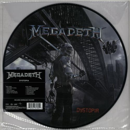Megadeth Dystopia picture disc LP (vinyl picture disc album) UK MEGPDDY652270