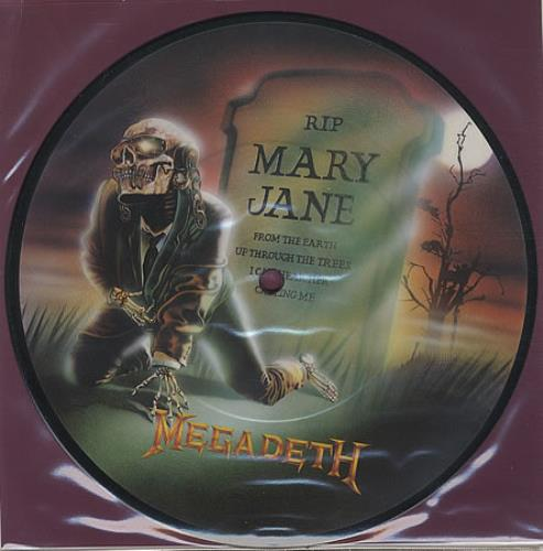 "Megadeth Mary Jane 7"" vinyl picture disc 7 inch picture disc single UK MEG7PMA21703"