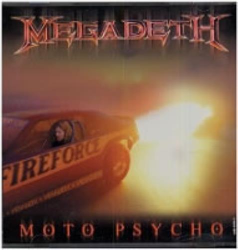 "Megadeth Moto Psycho CD single (CD5 / 5"") US MEGC5MO181104"