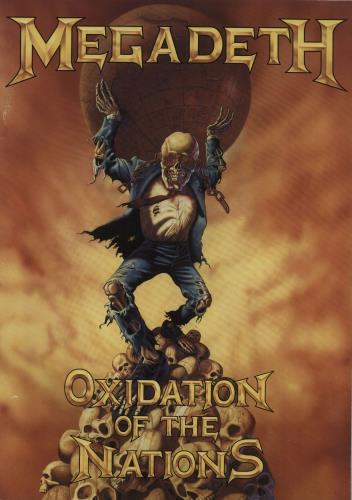 Megadeth Oxidation Of The Nations tour programme UK MEGTROX671268