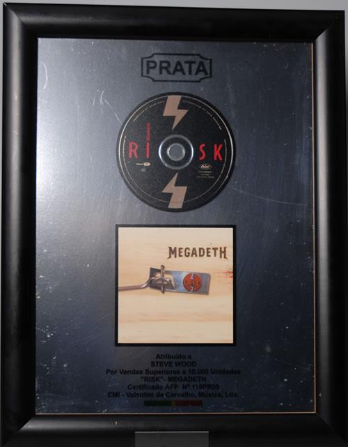 Megadeth Risk award disc Portugese MEGAWRI575125