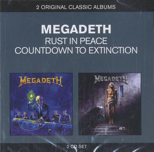 Megadeth Rust In Peace / Countdown To Extinction 2 CD album set (Double CD) UK MEG2CRU583650