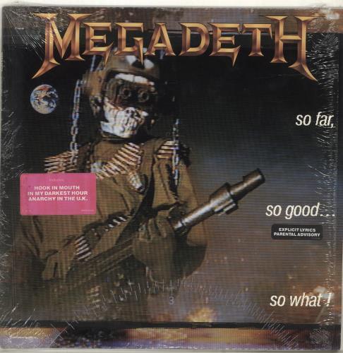 Megadeth So Far, So Good... So What! vinyl LP album (LP record) US MEGLPSO701092