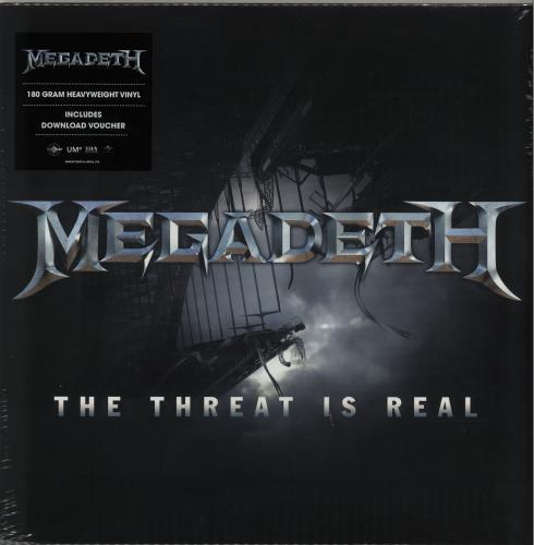 "Megadeth The Threat Is Real - 180gm 12"" vinyl single (12 inch record / Maxi-single) UK MEG12TH645493"