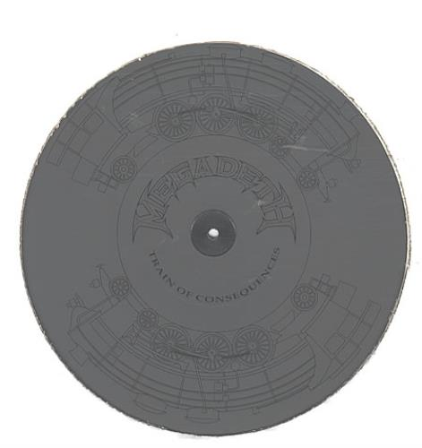"""Megadeth Train Of Consequences - Etched - Sealed 12"""" vinyl single (12 inch record / Maxi-single) UK MEG12TR39239"""