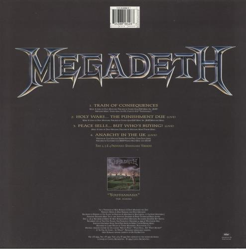 """Megadeth Train Of Consequences - Etched 12"""" vinyl single (12 inch record / Maxi-single) UK MEG12TR721340"""