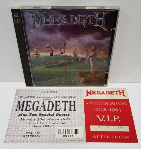 Megadeth Youthanasia + Hidden Treasures - Autographed 2 CD album set (Double CD) UK MEG2CYO674594