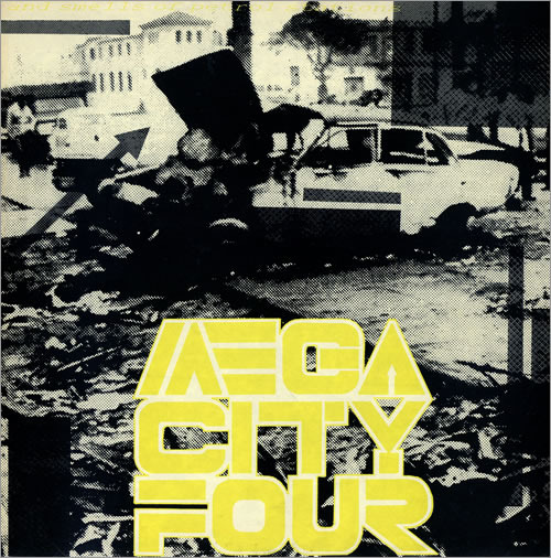 """Mega City Four ...And Smells Of Petrol Stations 12"""" vinyl single (12 inch record / Maxi-single) French MCF12AN459765"""