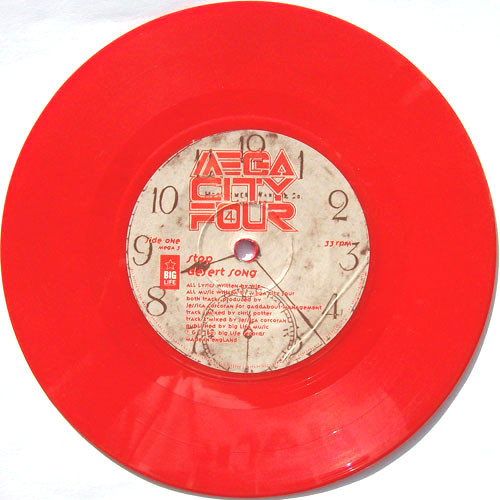 "Mega City Four Stop - Red Vinyl 7"" vinyl single (7 inch record) UK MCF07ST378349"