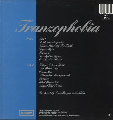 Mega City Four Tranzophobia vinyl LP album (LP record) UK MCFLPTR392902