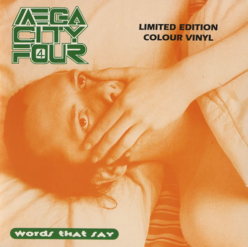 "Mega City Four Words That Say - Green Vinyl 7"" vinyl single (7 inch record) UK MCF07WO467618"