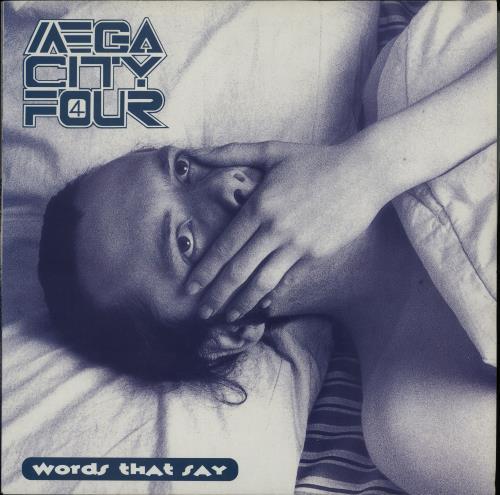 "Mega City Four Words That Say 12"" vinyl single (12 inch record / Maxi-single) UK MCF12WO645044"