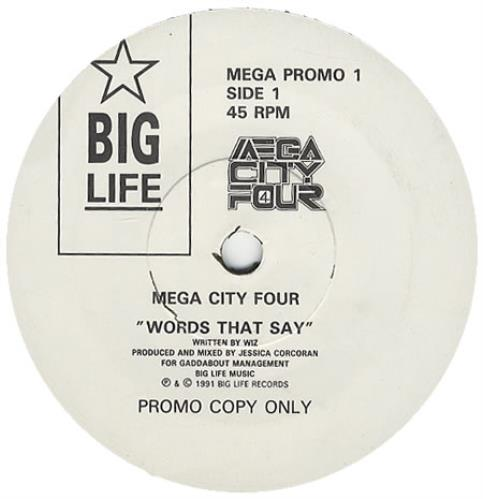 "Mega City Four Words That Say 7"" vinyl single (7 inch record) UK MCF07WO08389"