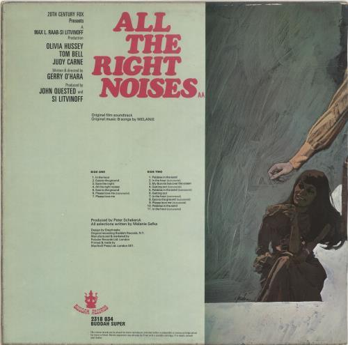 Melanie All The Right Noises vinyl LP album (LP record) UK MLALPAL489801