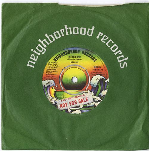 "Melanie Bitter Bad - Sample 7"" vinyl single (7 inch record) UK MLA07BI611886"