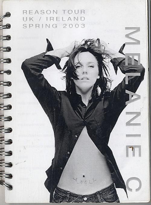 Melanie C Reason Tour - UK/Ireland Spring 2003 Itinerary UK M.CITRE612622