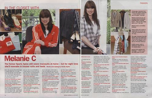 Melanie C Sunday Express Magazine magazine UK M.CMASU405649